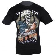 Camiseta Country Masculina Ox Horns Caveira