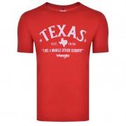Camiseta Country Masculina Wrangler Texas Vermelha