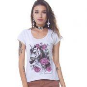 Camiseta Feminina Ox Horns Horses