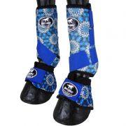 Caneleira com Boleteira e  Clochê Ventrix Boots Horse Azul