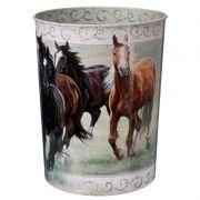 Cesto de Lixo Importado Cavalos
