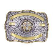 Fivela Country Masculina Cruz Gold 380745