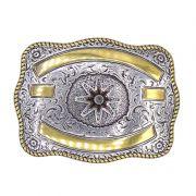 Fivela Country Masculina Roseta Gold 380753