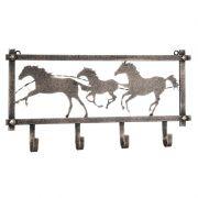 Pendurador Decorativo com 4 Ganchos Prata