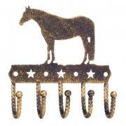 Pendurador Decorativo com 5 Ganchos Dourado