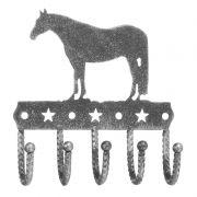 Pendurador Decorativo com 5 Ganchos Prata