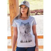 T-Shirt Country Femina Ox Horns Gery Wolf