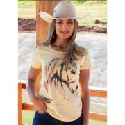 T-Shirt Country Ox Horns Amarela 6109