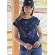 T-Shirt Country Ox Horns Marinho Horses 6107