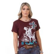 T-Shirt Feminina Zenz Western Free ZW0220005