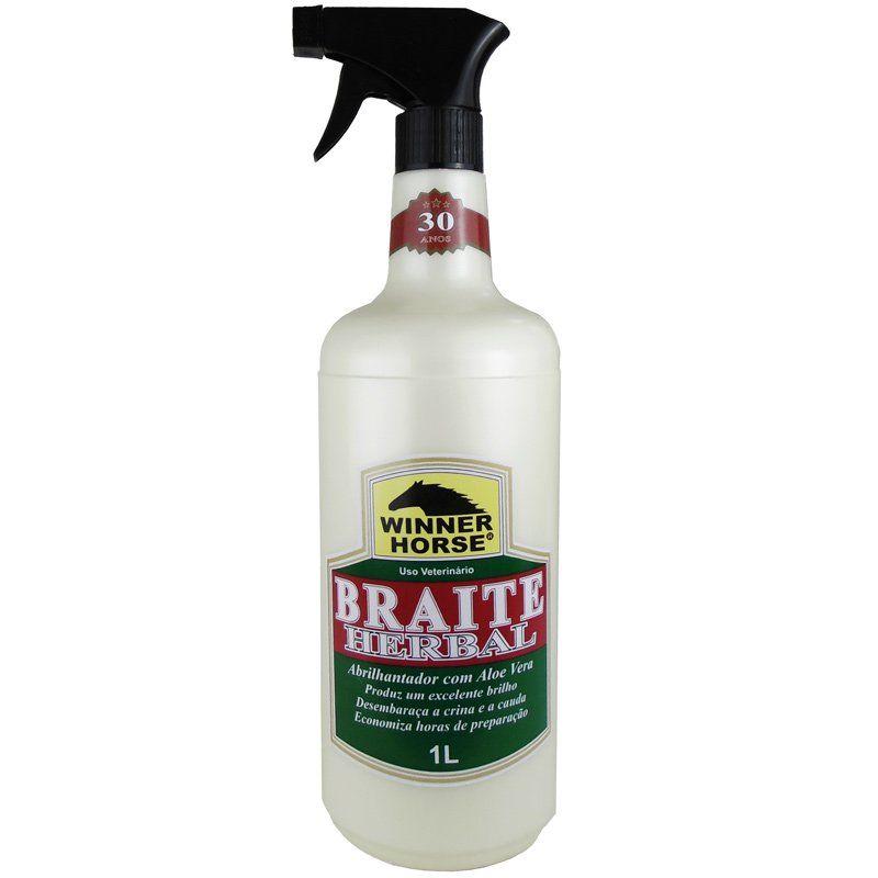 Abrilhantador Para Cavalo Braite Herbal Com Aloe Vera 1L