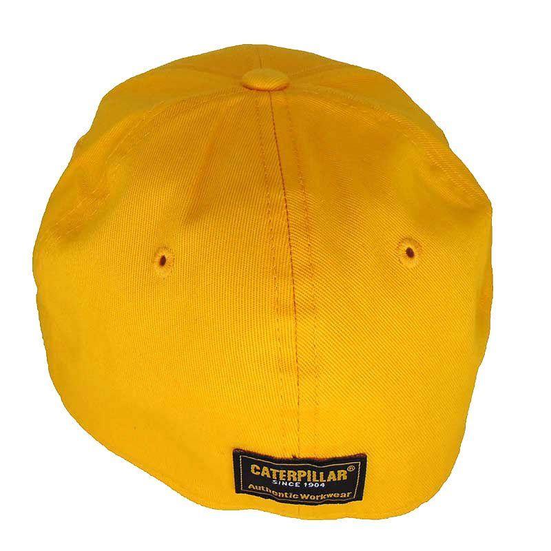 Boné Caterpillar Amarelo com Elástico