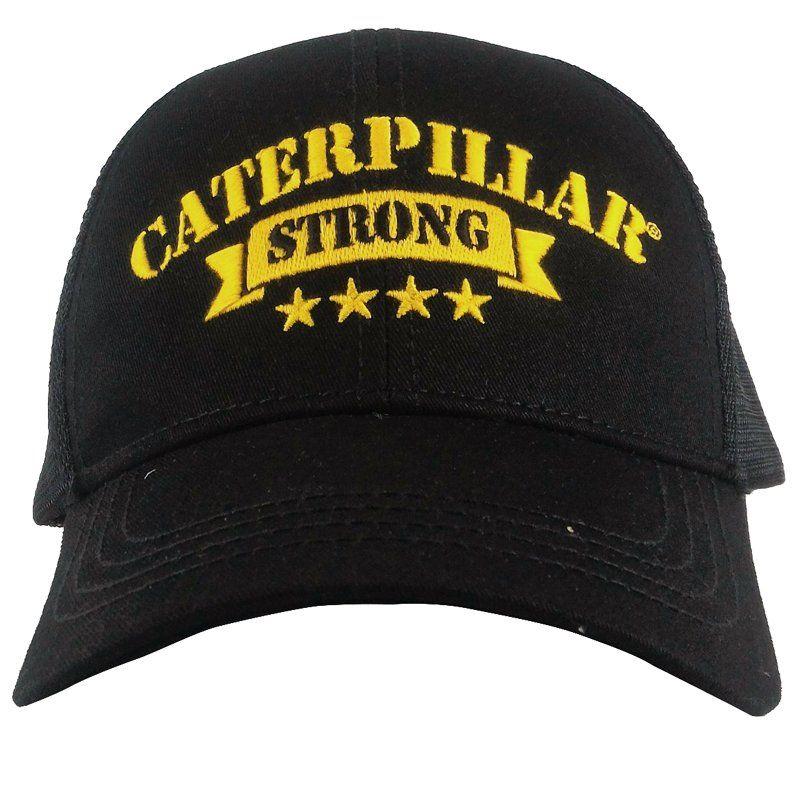 Boné Caterpillar Strong Preto e Amarelo