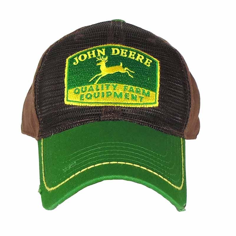 Boné John Deere Importado Marrom e Verde