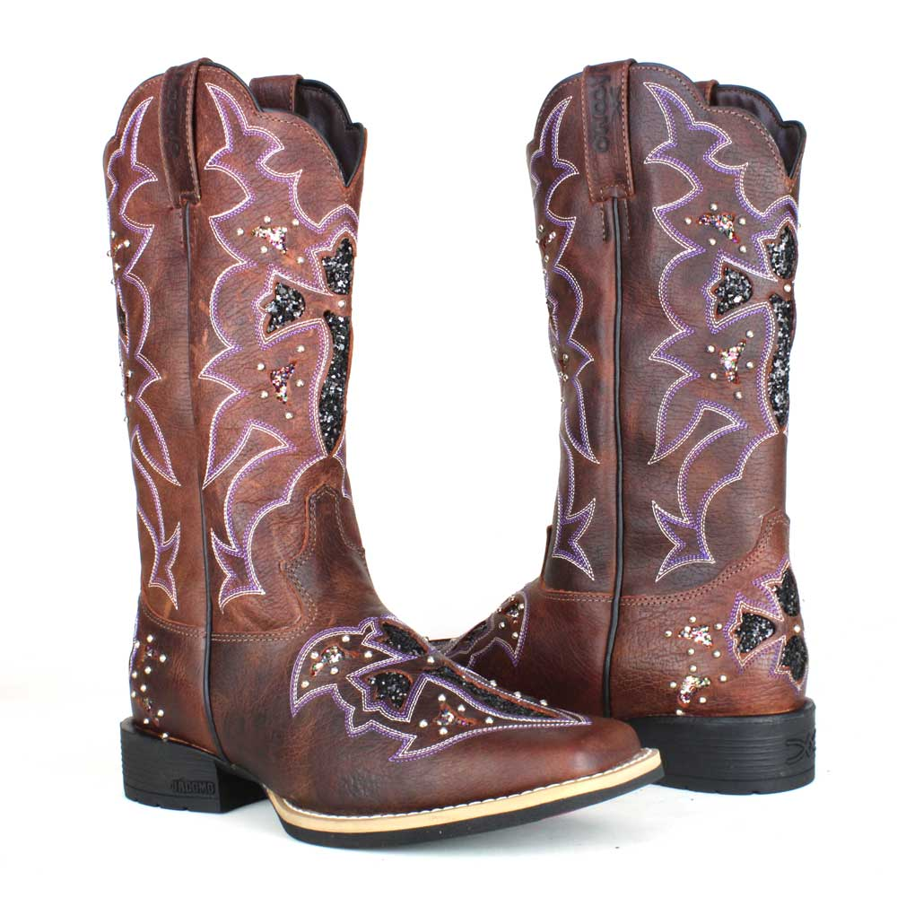 Bota Country Feminina Jacomo Glitter Cruz 4801/UF