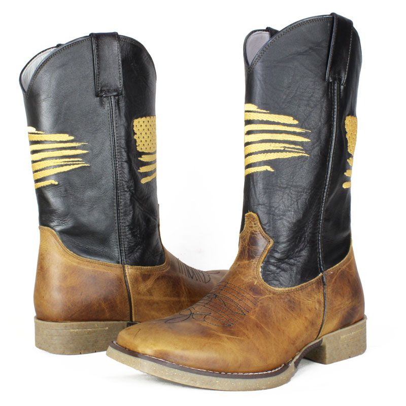 Bota Country Masculina Mr. West Usa Ouro 1463