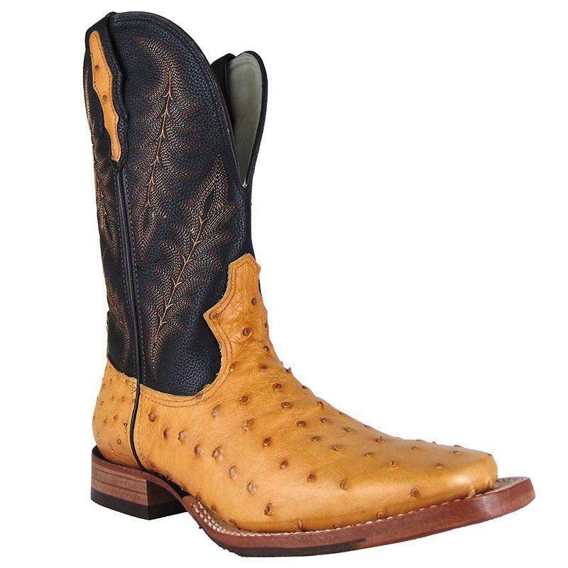 Bota Country Masculina Wrangler Avestruz Conhaque - Show Horse 3534fea87e6