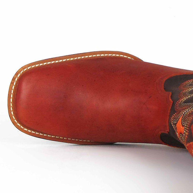 Bota Country Masculina Wrangler Dallas Orange Bico Quadrado