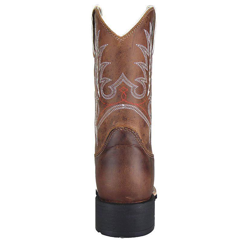 Bota Texana Show Horse Dallas Tabaco Bordado Branco
