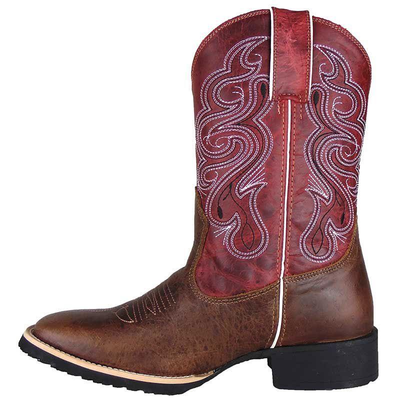 Bota Texana Show Horse Dallas Tabaco Cano Vermelho