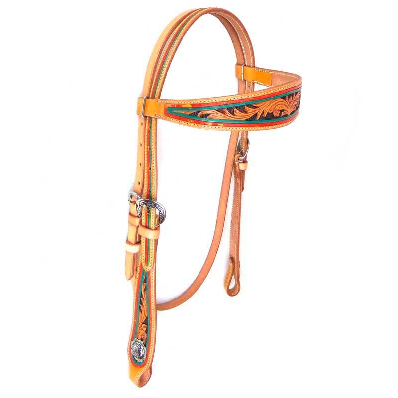 Cabeçada com Testeira Para Cavalo AK-801
