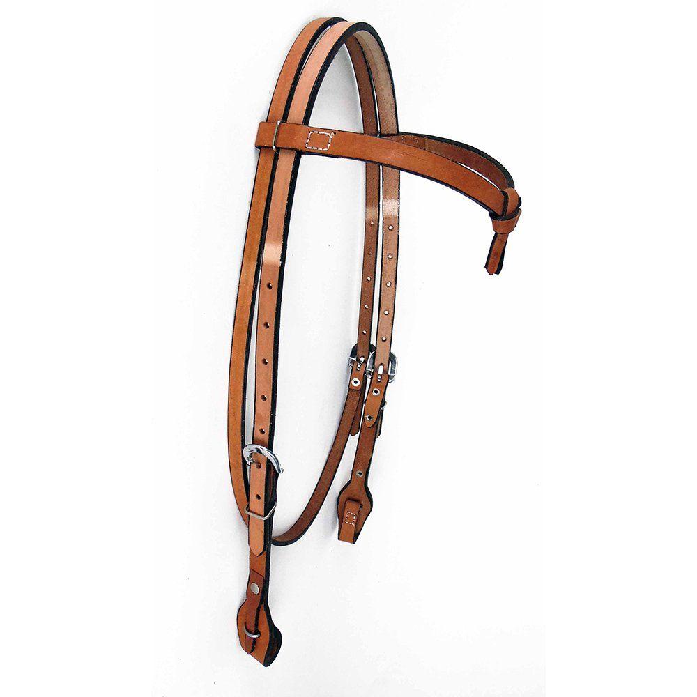 Cabeçada Para Cavalo com Testeira Lisa Cor Natural