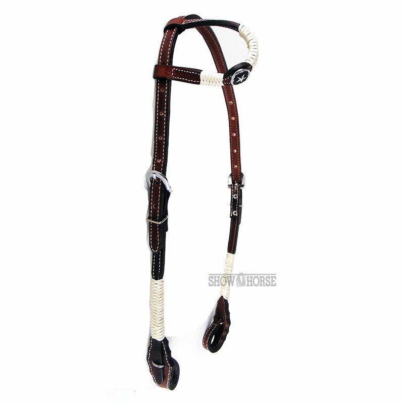 Cabeçada Para Cavalo de 1 Orelha Charroada Marrom