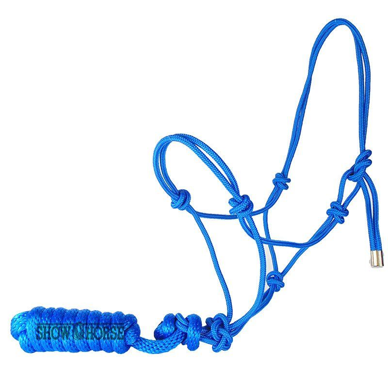 Cabresto Para Cavalo de Corda Azul Importado