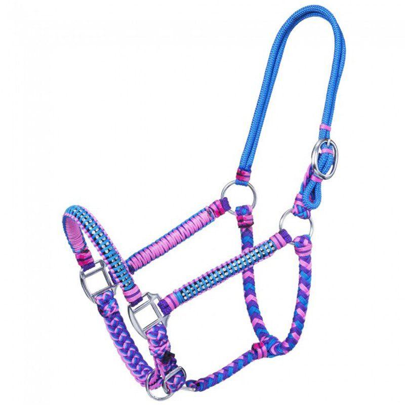 Cabresto Para Cavalo com Cristais Purple Pink