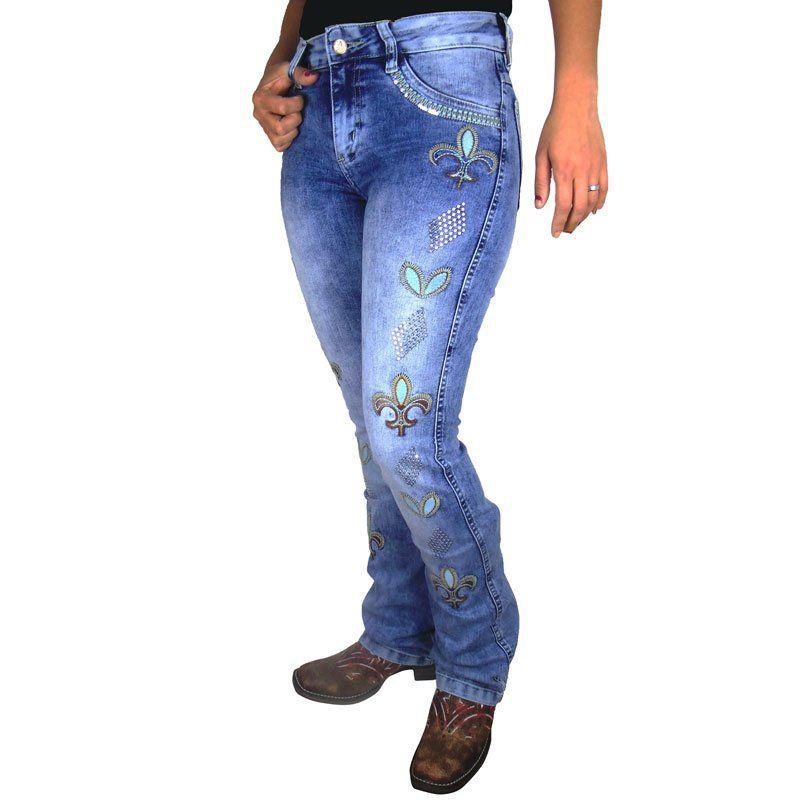 Calça Alabama Feminina Flor de Liz - Loja Country Online a487424939e