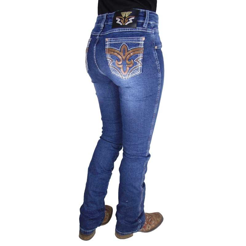 Calça Country Feminina Alabama Boot Cut Cintura Média