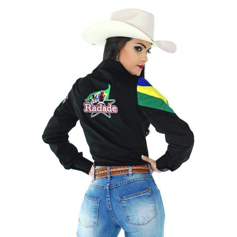 Camisa Country Feminina Radade Barretos Preta