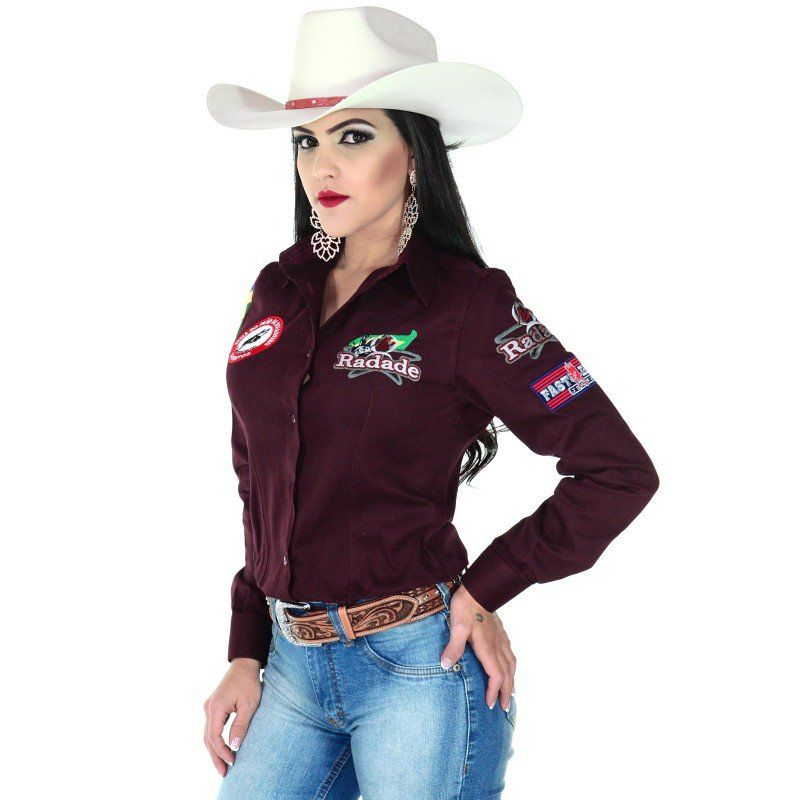 6c13e7ece07f2 Camisa country feminina radade barretos vinho show horse jpg 800x800 Camisa  vinho feminina