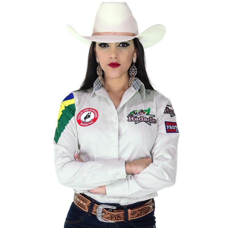 Camisa Country Feminina Radade Torcida do Bem Bege