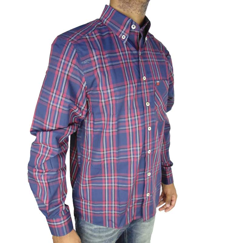 Camisa Country Masculina Os Vaqueiros Vinho