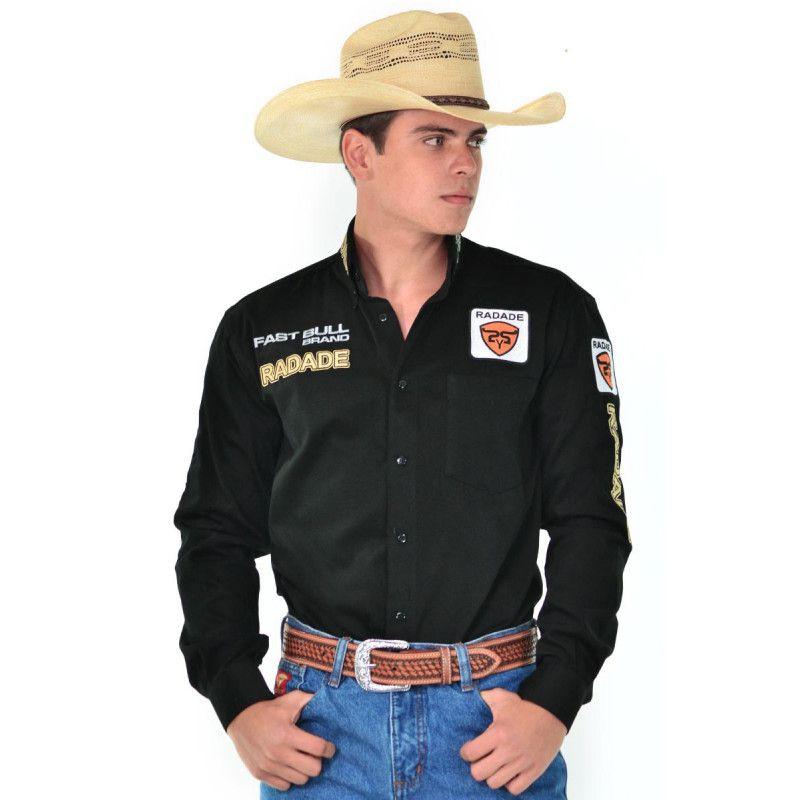 Camisa Country Masculina Radade Brands Preta