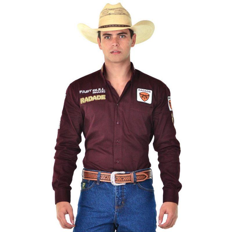 Camisa Country Masculina Radade Brands Vinho