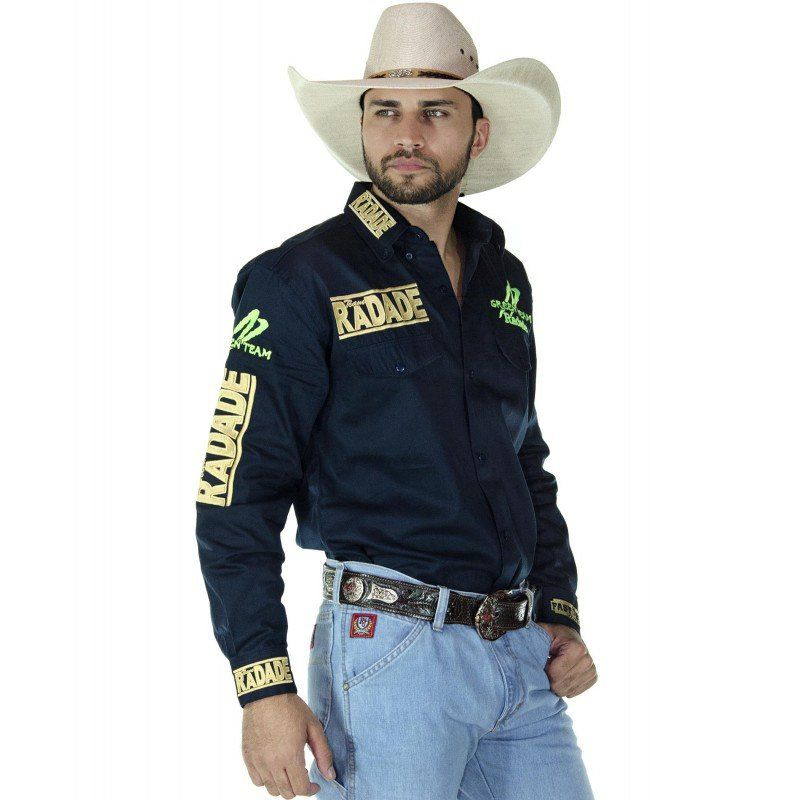 Camisa Country Masculina Radade Green Team Marinho