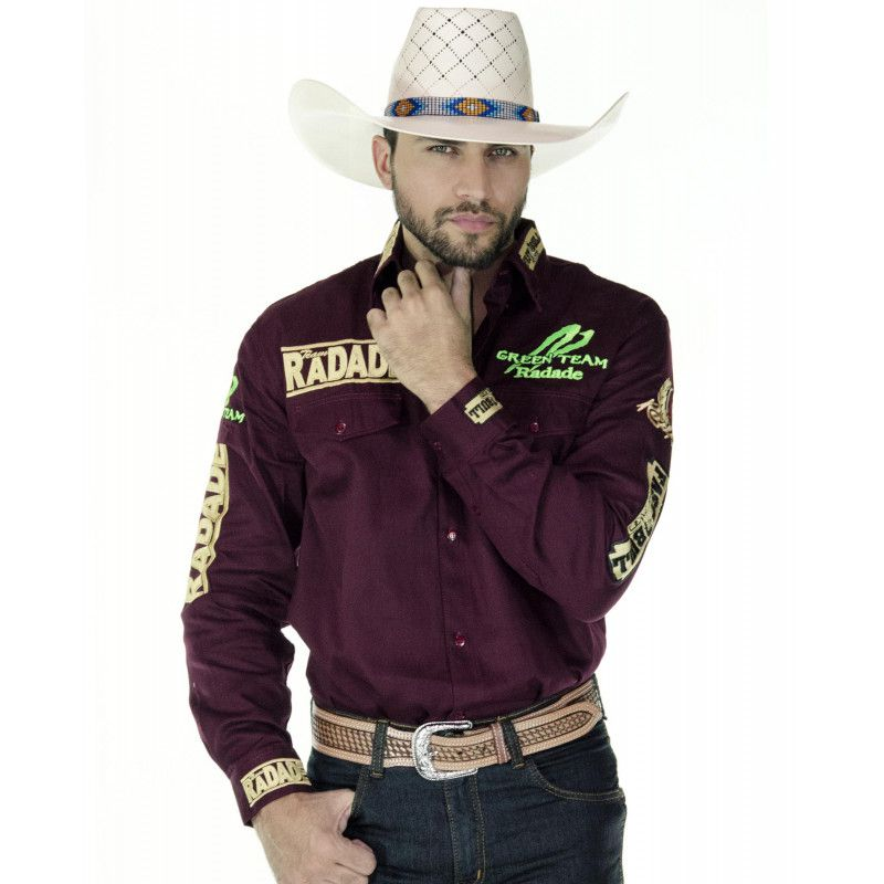 Camisa Country Masculina Radade Green Team Vinho