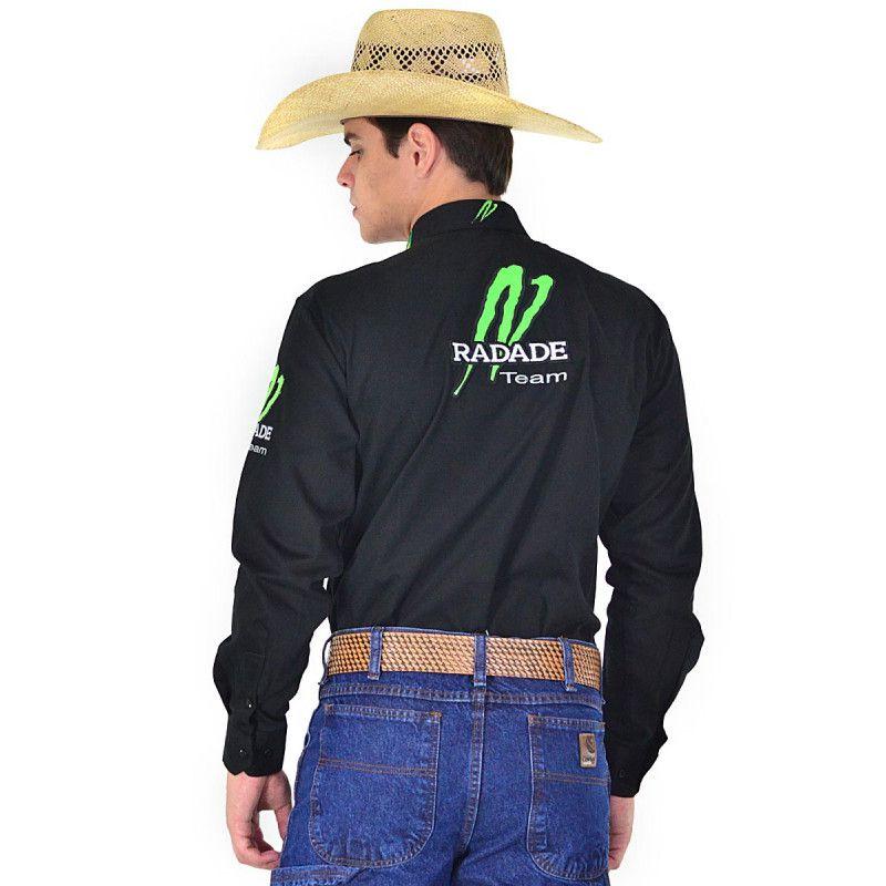 Camisa Country Masculina Radade Ram Preta