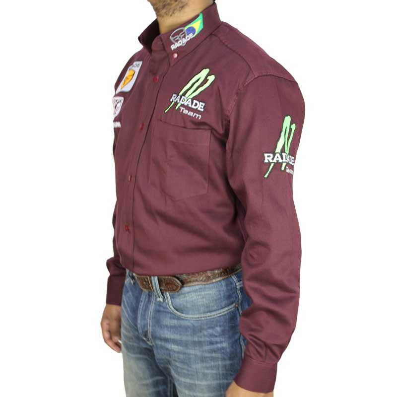 Camisa Country Masculina Radade Ram Vinho