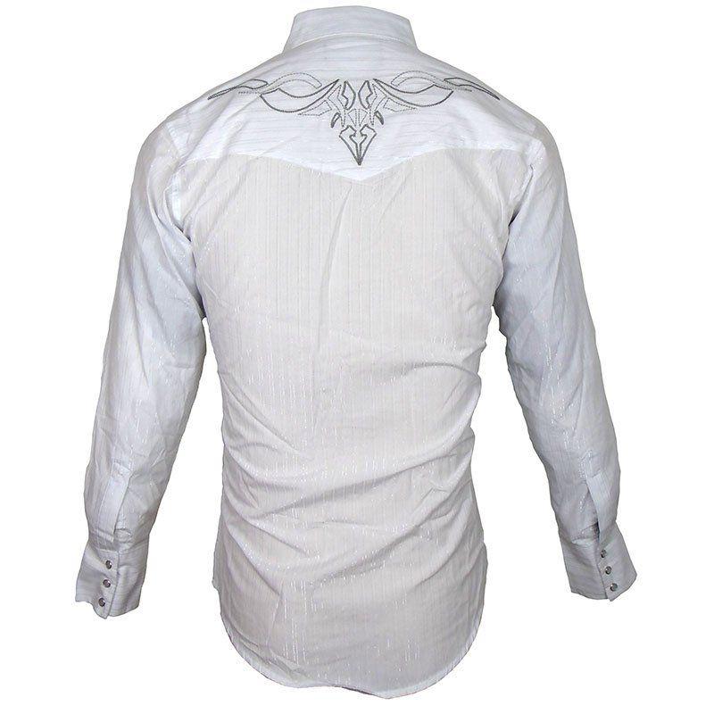 Camisa Country Masculina Wrangler Bordada Silver Edition 75043WH