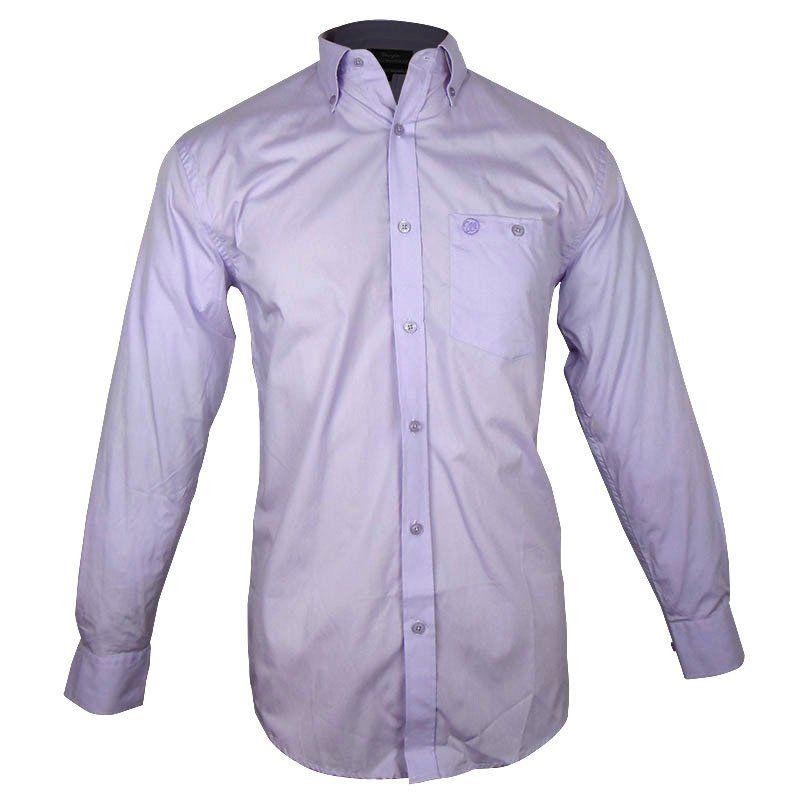 Camisa Country Masculina Wrangler Confort Lilás