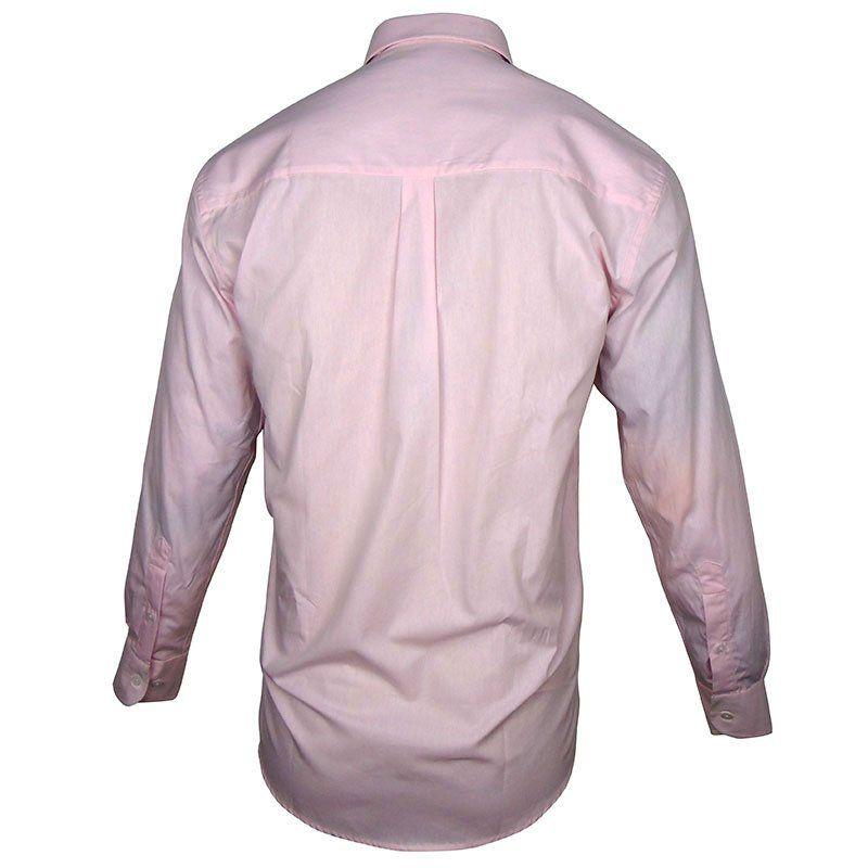 Camisa Country Masculina Wrangler Confort Lisa Rosa