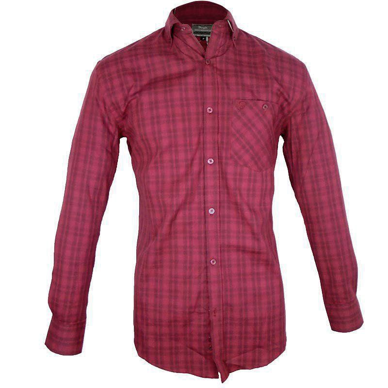 Camisa Country Masculina Wrangler Xadrez Vinho