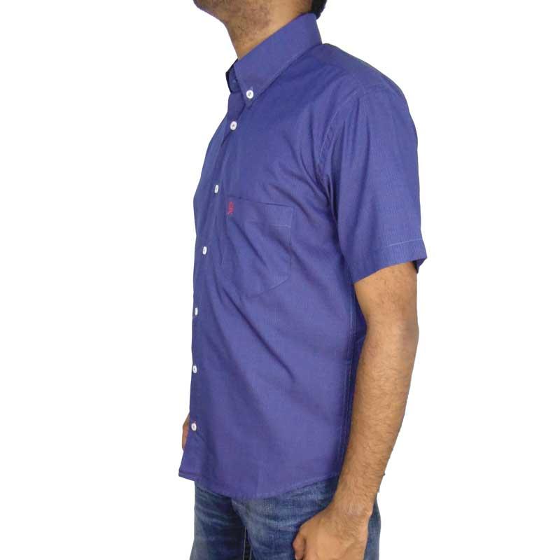Camisa Country Ox Horns Azul Manga Curta
