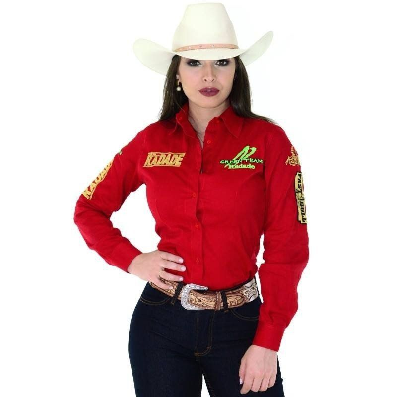 Camisa Feminina Radade Green Team Vermelha