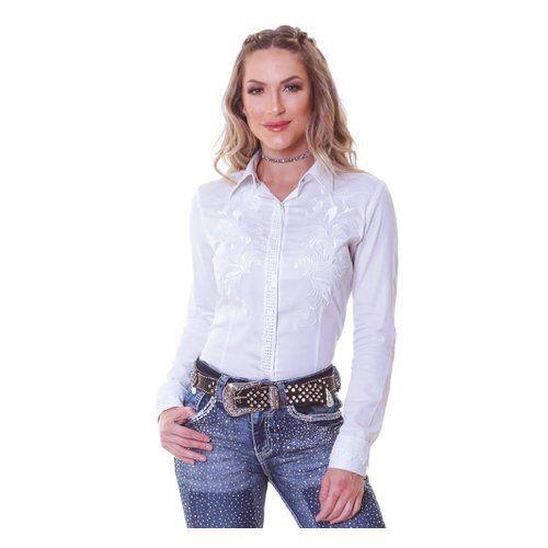 Camisa Feminina Zenz Western Ivy Branca
