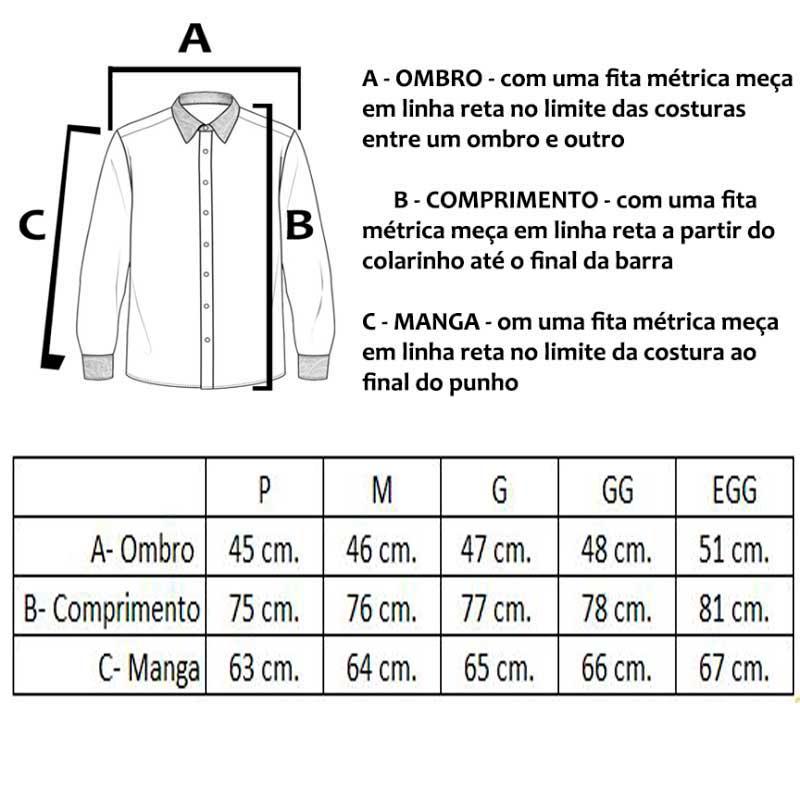 Camisa Masculina Xadrez Manga Longa Ox Horns 9128