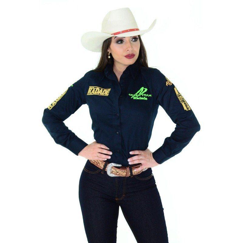 Camisa Radade Feminina Green Team Marinho